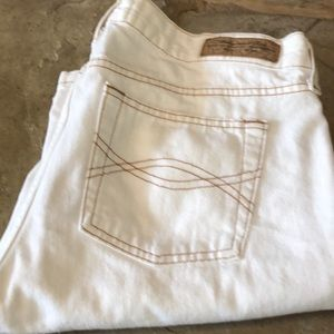 Abercrombie and Fitch White Denim Jeans size 8